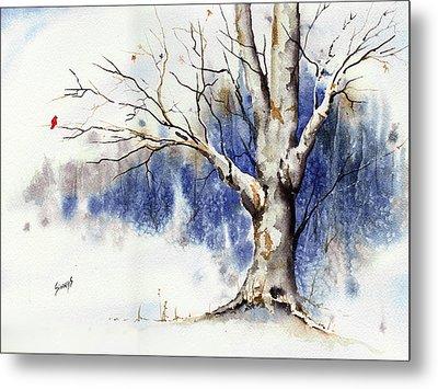 Untitled Winter Tree Metal Print