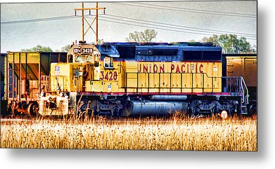 Up 3428 Rcl Locomotive In Color Metal Print