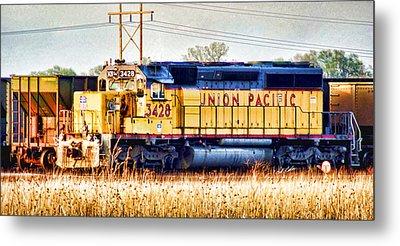 Up 3428 Rcl Locomotive In Color Metal Print by Bill Kesler