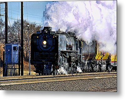 Metal Print featuring the photograph Up 844 Movin' On by Bill Kesler