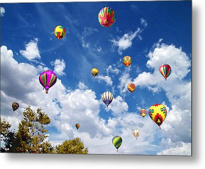 Up And Away - Hot Air Balloons Metal Print