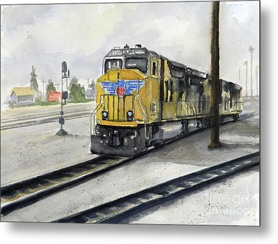 U.p. Locomotive Metal Print