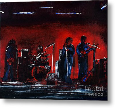 Up On The Stage Metal Print by Alys Caviness-Gober
