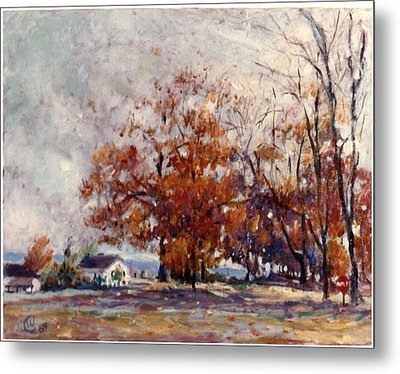 Metal Print featuring the painting Up State Ny - Nyack by Walter Casaravilla