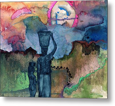 Up The Hill Metal Print by Sarah Wathen