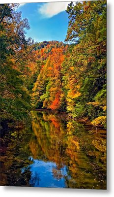 Up The Lazy River Painted Metal Print by Steve Harrington