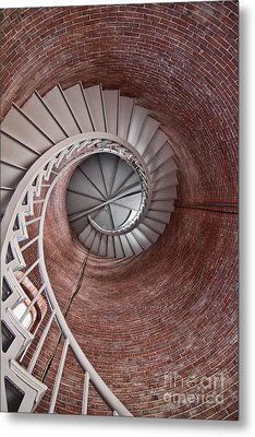 Up Through The Spiral Staircase Metal Print by K Hines