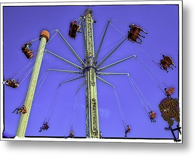 Up Up And Away 2013 - Coney Island - Brooklyn - New York Metal Print by Madeline Ellis