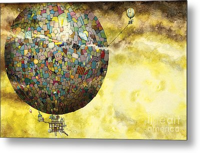 Up Up And Away Metal Print by Colin Thompson