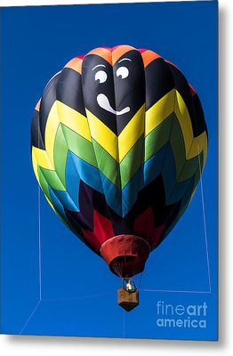 Up Up And Away In My Beautiful Balloon Metal Print by Edward Fielding