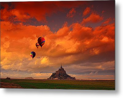Up Up And Away Metal Print by Midori Chan