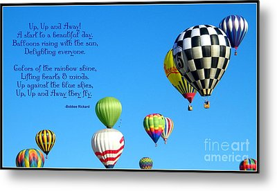 Up Up And Away Poetry Photography Metal Print