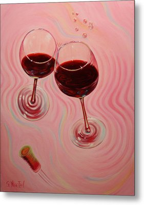 Metal Print featuring the painting Uplifting Spirits II by Sandi Whetzel