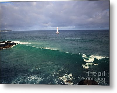 Upon A Wave Metal Print by Deena Otterstetter