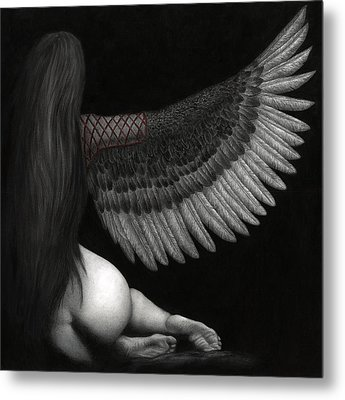 Upon Ashen Wings Metal Print by Pat Erickson