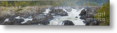 Upper Great Falls Panorama Metal Print by Benjamin Reed