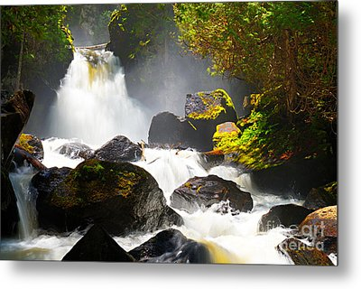 Upper Johnson Falls Metal Print by Larry Ricker