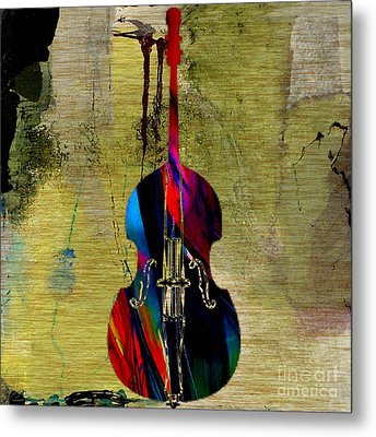 Upright Bass Metal Print by Marvin Blaine