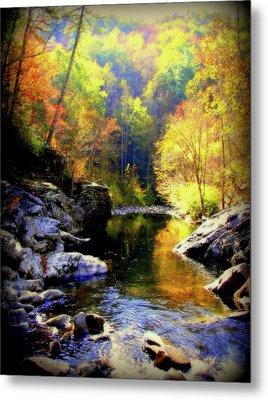 Upstream Metal Print by Karen Wiles
