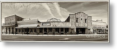 Uptown Blanco Panorama In The Texas Hill Country Metal Print by Silvio Ligutti