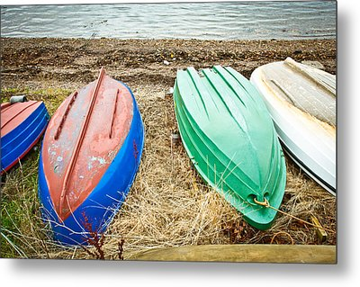 Upturned Boats Metal Print