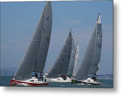 Upwind At The Start Metal Print by Steven Lapkin