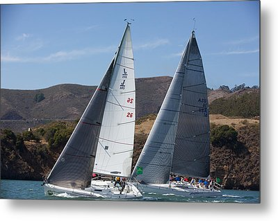 Upwind To The Gate Metal Print by Steven Lapkin
