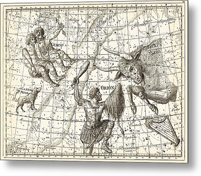 Uranographia Constellations, 1801 Metal Print by Science Photo Library