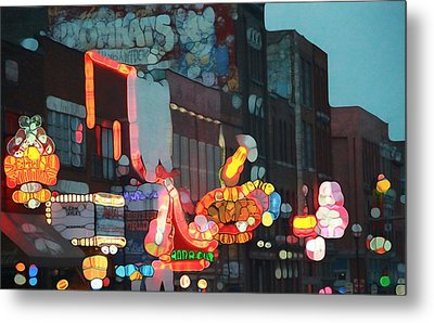 Urban Abstract Nashville Neon Metal Print by Dan Sproul
