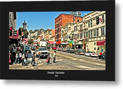Urban Cross Walks Metal Print by Joseph Coulombe