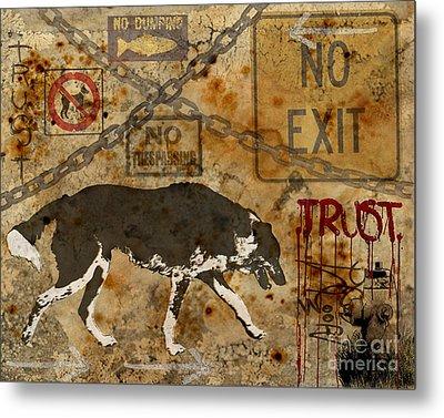Urban Dog Metal Print by Judy Wood