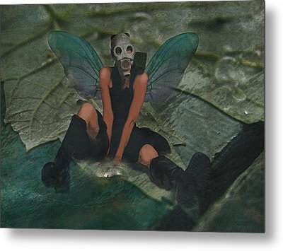 Metal Print featuring the digital art Urban Fairy by Galen Valle