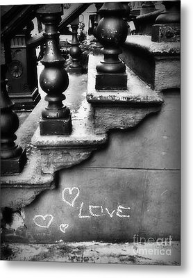 Urban Love Metal Print by Miriam Danar