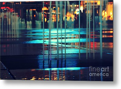 Urban Night Life Metal Print by Charline Xia