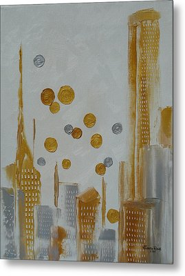 Metal Print featuring the painting Urban Polish by Judith Rhue
