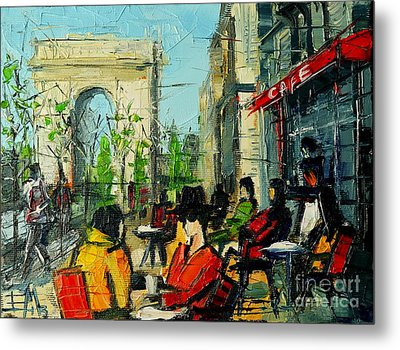 Urban Story - Champs Elysees Metal Print by Mona Edulesco