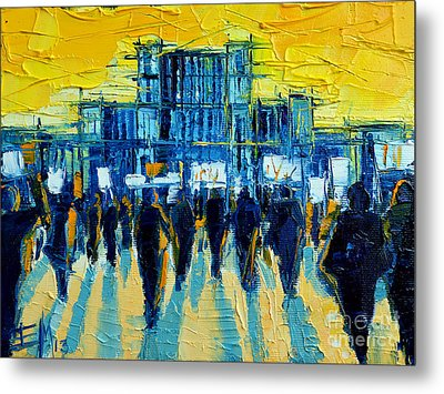 Urban Story - The Romanian Revolution Metal Print