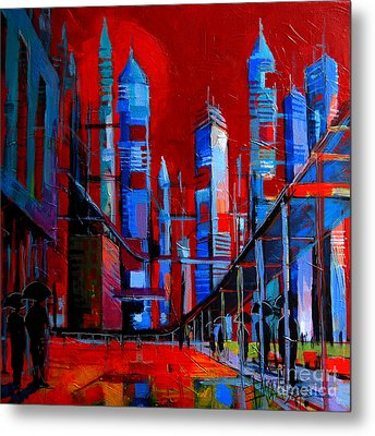 Urban Vision - City Of The Future Metal Print by Mona Edulesco