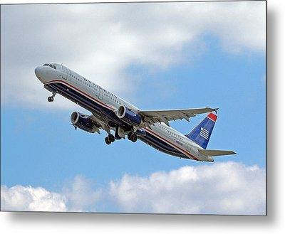 Us Airways Metal Print by Joseph C Hinson Photography