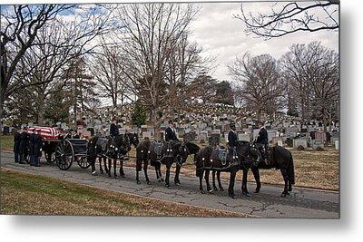 Us Army Caisson At Arlington National Cemetery Metal Print
