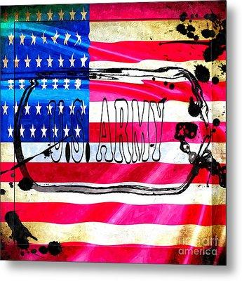U.s. Army Flag Metal Print