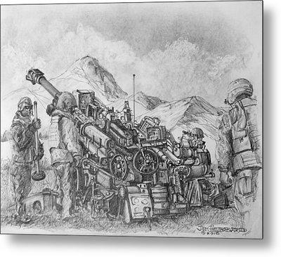 Us Army M-777 Howitzer Metal Print by Jim Hubbard