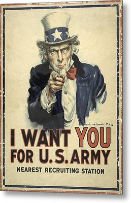 Us Army Recruitment Poster Metal Print