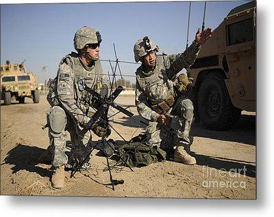 U.s. Army Soldiers Setting Metal Print by Stocktrek Images