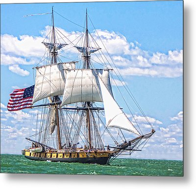 Metal Print featuring the photograph Us Brig Niagara  by Brent Durken