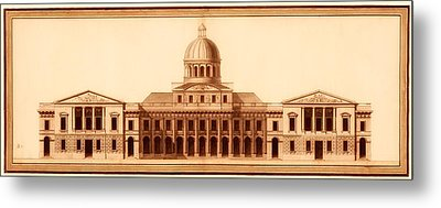 U.s. Capitol Design 1791 Metal Print by Mountain Dreams