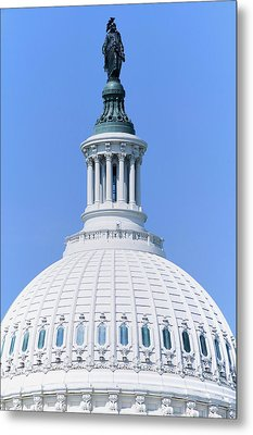 U.s. Capitol Dome And Statue Of Freedom Metal Print