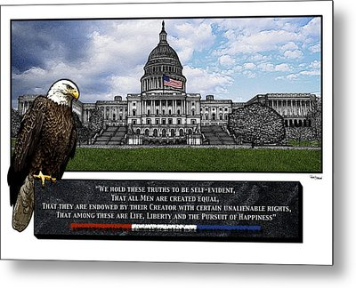 Us Capitol With Eagle Metal Print by Rose Borisow