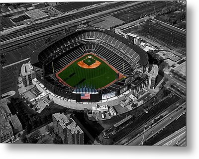 Us Cellular Field Chicago Sports 08 Selective Coloring Digital Art Metal Print by Thomas Woolworth