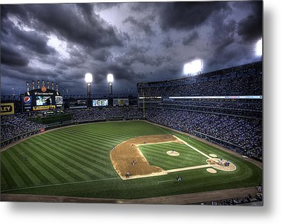 Metal Print featuring the photograph Us Cellular Field Twilight by Shawn Everhart
